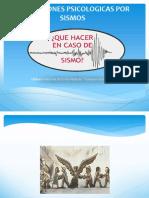 Información en caso de sismo