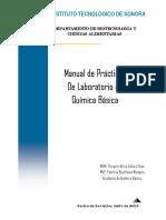 Manual de Prácticas De Laboratorio de Química Básica