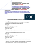 Business Ethics Decision Making for Personal Integrity and Social Responsibility 3rd Edition Hartman Test Bank