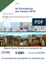 Encuesta Bogotá Cómo Vamos 2010
