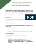 Manual de Operación y Mantenimiento Ptap Carhuaz