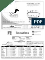Hipodromo Independencia  rograma Ofiial 16-10-2017