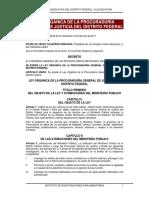 Ley Organica de La Pgj Cdmx