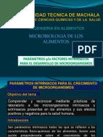 Parametros Intrínsecos Paera El Desarrollo de Microorganismos