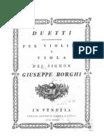 Borghi G. 6 Duetti a Violino e Viola