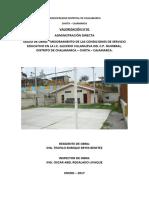 informe de liquidacion N°01