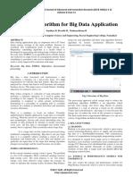 Efficient Algorithm for Big Data Application