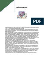 Chem c3000 Online Manual