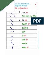 120 Pitman English Shorthand Shortforms