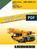 Liebherr Technical Data Sheet Mobile Crane 250 Ltm 1060-3-1 Td 250 01 Defisr