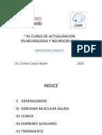 Miastenia Gravis 2018 x Dr. Cristian Carpio Bazán