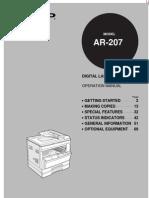 Manual Copy Man Shap Ar-207