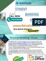 Financial Modelling Courses in Delhi - Ibinstitute.in