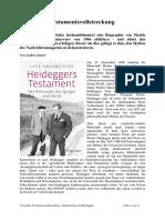 Hachmeister Heideggers Testament