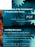 Week 1 an Overview of the Development of Organisation Theory