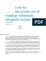 Colored Ink for Computer Printer Out of Malabar Nihtshade