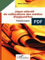 Lexique Sélectif de Collocations Des Médias d'Aujourd'Hui