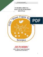OS Ivan Goran Kovacic Letopis Sk 2013-2014