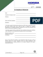 HORIBA UK Trade Compliance Statement