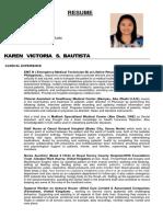 Cv Karen Victoria s. Bautista