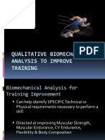 Qualitative Biomechanical Analysis to IMPROVE TRAINING