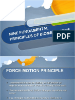 Nine Fundamental Principles of Biomechanics