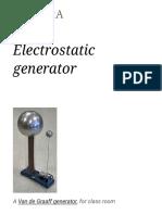 Electrostatic Generator