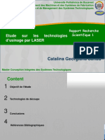 Etude Sur Les Technologies d'Usinage Par LASER
