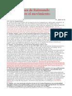 Apreciaciones de Raimundo Ongaro Sobre El Movimiento Obrero - CGTA