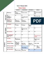 New Term 1 Planner - 2018