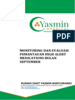 Monitoring Dan Evaluasi Program High Alert Fix - September Fix