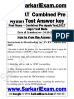 UP CPAT Combined Pre Ayush Test Answer Key-1