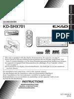 CD Receiver Kd-shx701