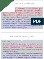 Nociones de Investigacion Cientifica