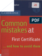 3 Common Mistakes at First Certificate FCE