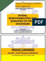 Duties Responsibilities Qualities of Field Engineers