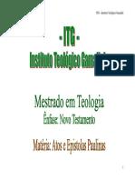 11 - Atos e Epistolas Paulinas
