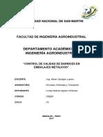 Informe Nº 6 -Control de Calidad de Barnices en Embalajes Metálicos