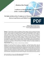 Os Direitos Dos Libertos Africanos No Brasil Oitocentista