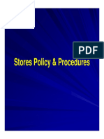 Stores Policy Procedures