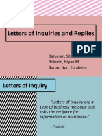 Letters of Inquiries and Replies (3)