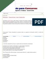 [Português Concurso]_ Sintaxe - Exercícios Com Gabarito