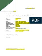 Carta Modelo Para Pagos Por Medio Magnetico o Carta