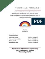 298931919 Production of Urea by ACES Process
