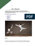 Fencing With a Maestro _ Aladar Kogler _ Biografia _ Exercicios