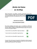 Arcgis, Edición de Datos