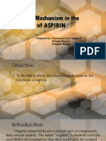 Reaction Mechanism in the Synthesis of ASPIRIN