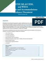 michigan accommodations manual