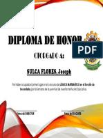 Diploma de Honor (Secundaria)