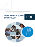 What Makes a Quality Curriculum